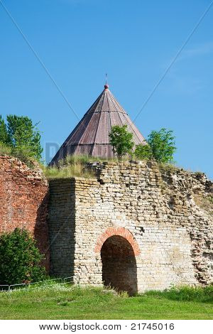 Royal Tower the sixteenth century. Fortress Shlisselburg. Russia poster
