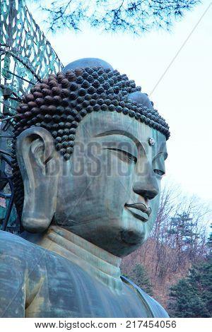 Seoraksan national park with Sinheungsa temple South Korea