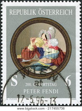 AUSTRIA - CIRCA 1996: A stamp printed in Austria shows a picture of