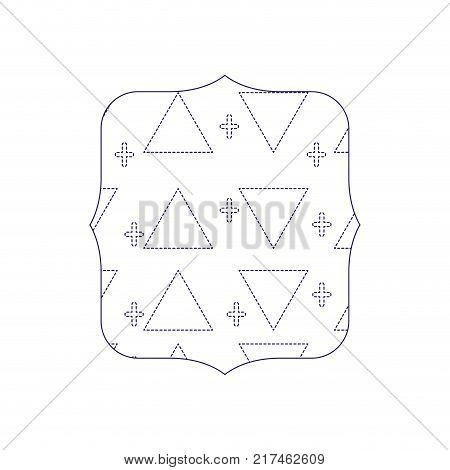 dotted shape quadrate with memphis style geometric design background vector illustration