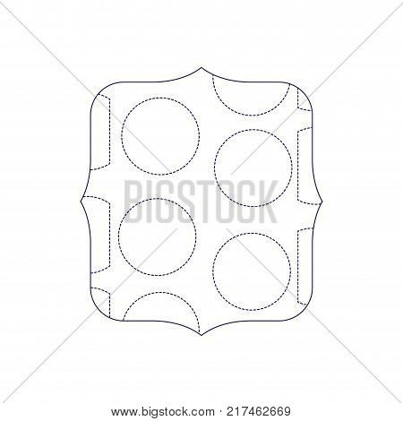 dotted shape quadrate with memphis geometric figure background vector illustration