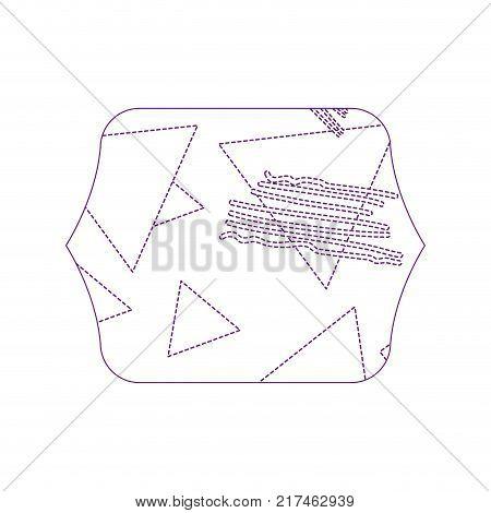 dotty shape quadrate with geometric figure stye background vector illustration
