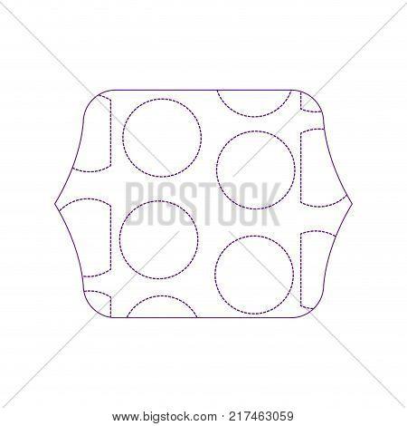 dotty shape quadrate with memphis geometric figure background vector illustration