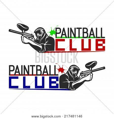 set monochrome paintball logos vector photo bigstock rh bigstockphoto com paintball logos designs paintball gun logos