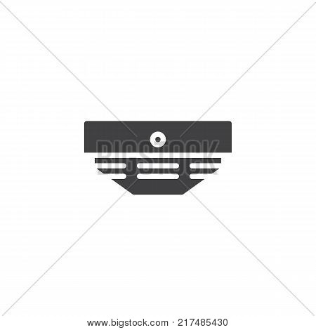 Smoke detector icon vector, filled flat sign, solid pictogram isolated on white. Fire fighting symbol, logo illustration.