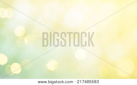Amazing spring summer Background. Delicate Beautiful Abstract Nature Green Yellow Backdrop with light spot. Wide Screen Soft Texture With Copy Space for text.