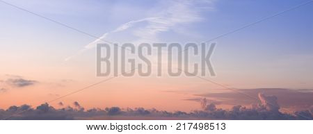 Colorful Dawn/dusk Sky With Clouds Background.