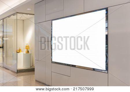 Blank Billboard For Advertising Poster