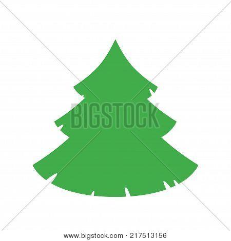 christmas tree vector icon. Stock illustration for design