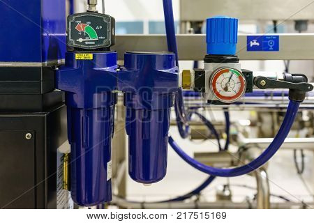Compressed air filter regulator lubricator in new factory