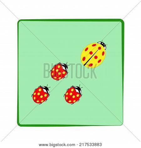Ladybird Card. Vector & Photo (Free Trial) | Bigstock