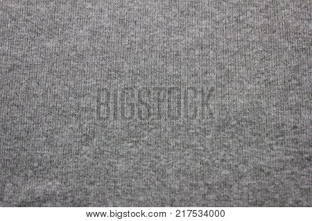 Gray Texture Cloth Background, Cotton Fabric Material Seamless Pattern. Simple Casual Clothes Textured Empty Backdrop, Blank Dark Pale Surface Copy Space. Soft Grey Color Design Template Wallpaper