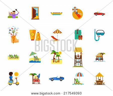 icon, sign, symbol, vector, flat, design, element, isolated, graphic, app, illustration, application, set, beach, holiday, vacation, travelling, summer, resort, sunny, suntan, sunbathing, sea, swimming, car, exotic, hammock, chaise-lounge, recreation, rel