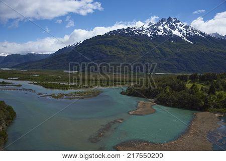 Landscape along the Carretera Austral above Rio Ibáñez in Patagonia, Chile