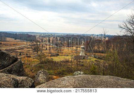 View of the Gettysburg Battlefield