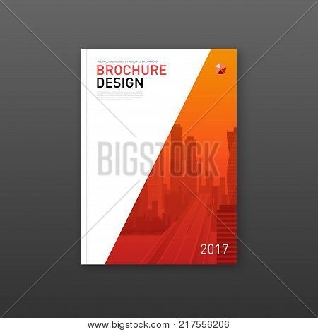 Corporate annual report brochure cover design layout. Good for corporate catalog, annual report, poster or flyer.
