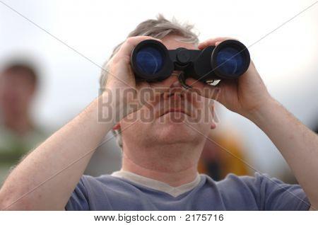 Male With Binoculars