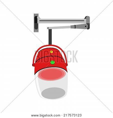 Hair steamer vector icon dryer iron. Blender machine mixer oven fridge web electric
