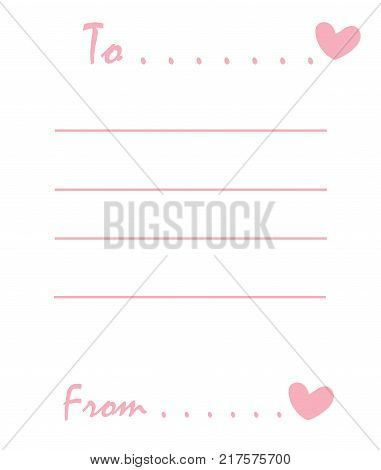 The Cute love memo for wallpaper background