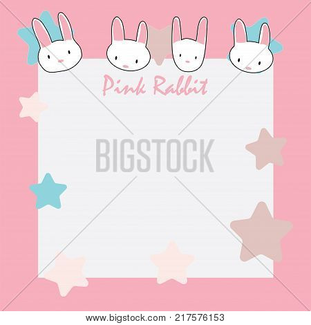 Cute Rabbit Memo, Wallpaper, Background