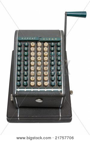 Old cheque writing machine