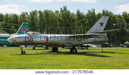 RUSSIA MOSCOW REGION MONINO - August 09 2017: Museum of the air force. Bomber Il-28