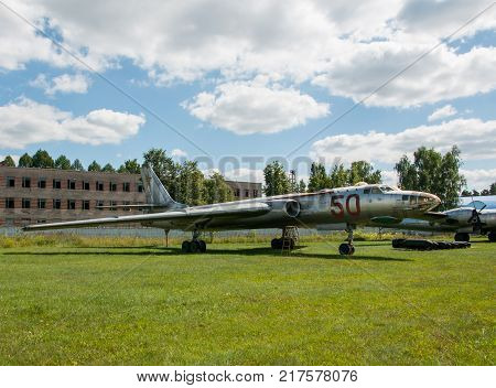 RUSSIA MOSCOW REGION MONINO - August 09 2017: Museum of the air force. heavy bomber Tu-16