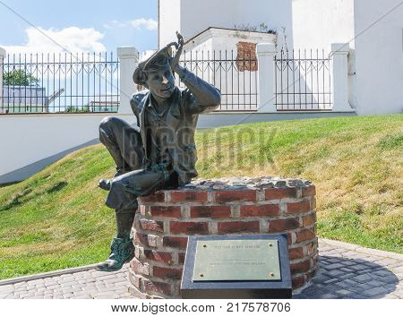RUSSIA VLADIMIR - August 13 2017: The bronze monument to idler. George street