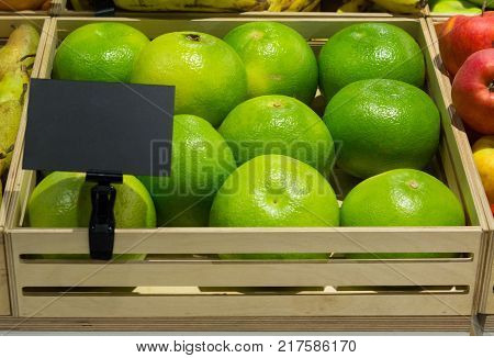 Citrus Sweetie in a wooden box with a price tag