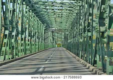 Mauterner Bridge on the River Danube Austria