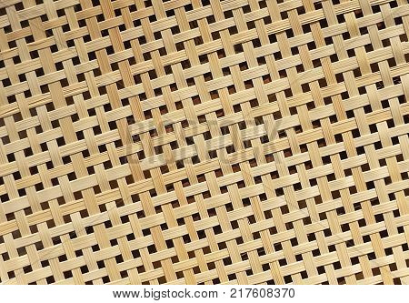 Background Pattern Rattan Handicraft Weave Texture Wicker Surface for Furniture Material.