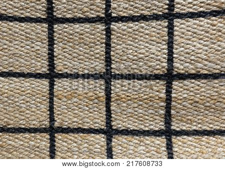 Background of Brown Handicraft Weave Texture Wicker Surface with Paid Pattern for Furniture Material.