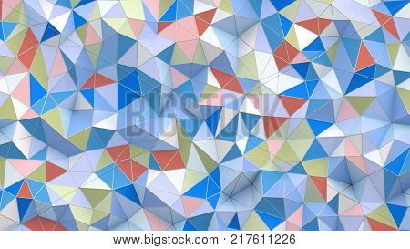 3d illustration. 3d Abstract background with poly
