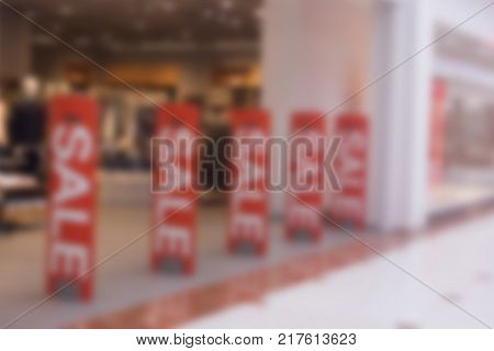 blurred store with anti theft gates for background