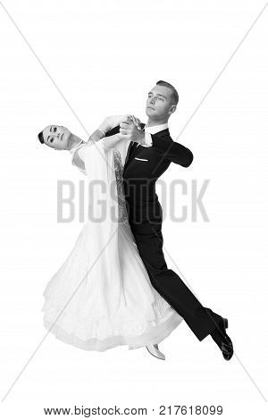 Dance Ballroom Couple In A Dance Pose