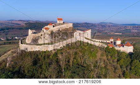Rupea fortress Brasov county Romania. Medieval saxon landmark of Transylvania