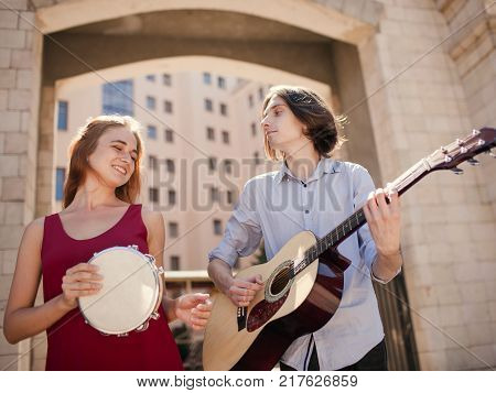 indie folk music street performers lifestyle. freedom subculture independent alternative concept