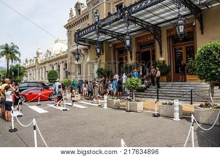 MONTE CARLO - August 15 2017: The Casino of Monte Carlo January 31, 2009 in Monte Carlo. It hosts the annual European Poker Tour .