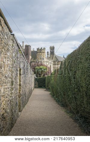 BATTLE ABBEY, BATTLE, EAST SUSSEX, UK, 13TH APRIL 2017 - Battle Abbey and grounds built on the site of the Battle of Hastings Battle Sussex UK