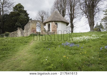 BATTLE ABBEY, BATTLE, EAST SUSSEX, UK, 13TH APRIL 2017 - Ice House and Dairy Battle Abbey Sussex England UK