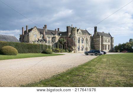 BATTLE, SUSSEX, UK, 13TH APRIL 2017 - Battle Abbey school former 13th century guest house for the abbey Battle Sussex UK