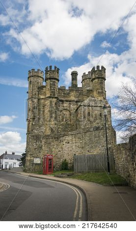 Gatehouse of Battle Abbey in East Sussex England. This Benedictine abbey was built after the Battle of Hastings.