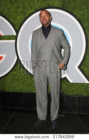 LOS ANGELES - DEC 7:  Jesse Williams at the 2017 GQ Men of the Year at the Chateau Marmont on December 7, 2017 in West Hollywood, CA