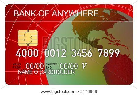 Kreditkarte Globe rot
