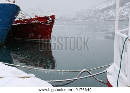 Winter Boat Scene