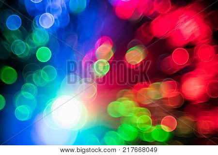 Fiber Optical Network Cable And Blurred Light For Background And Wallpaper