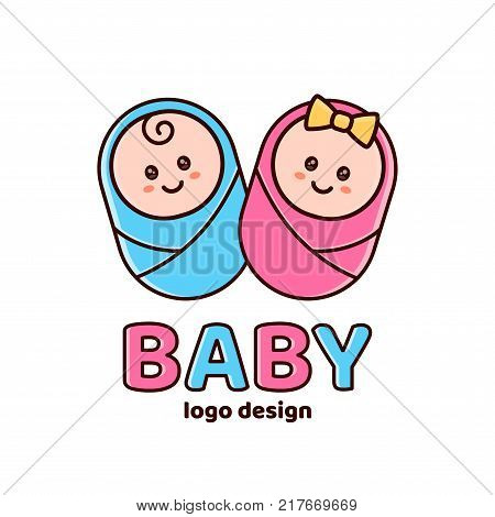 boy girl baby shower vector photo free trial bigstock
