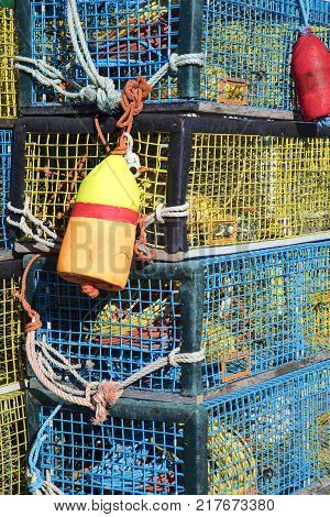 Colorful Lobster Traps