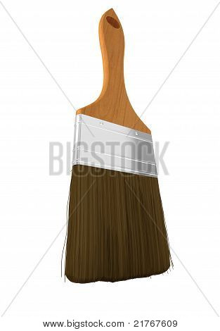 Housework And Renovation: Paintbrush Isolated