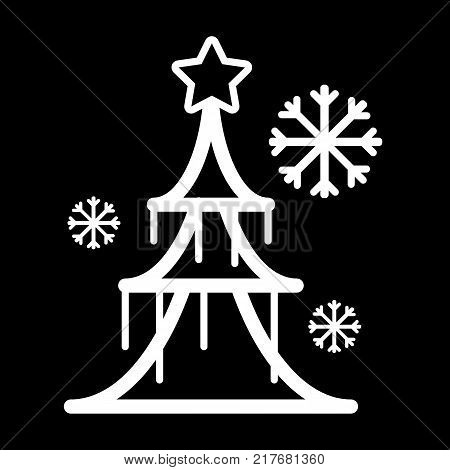 Vector Christmas tree and gift icon. Premium quality graphic design. EPS10